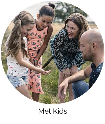 Met kids Acker Lodges Drenthe